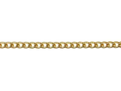 Gold Plated Curb 2.8mm, 1 Metre