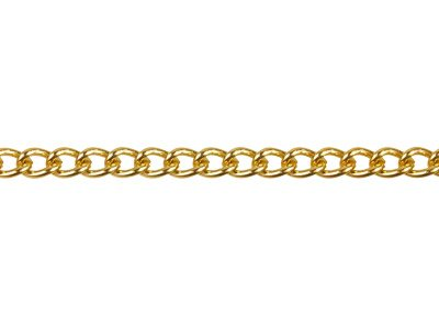 Gold Plated Curb 3.7mm 1 Metre