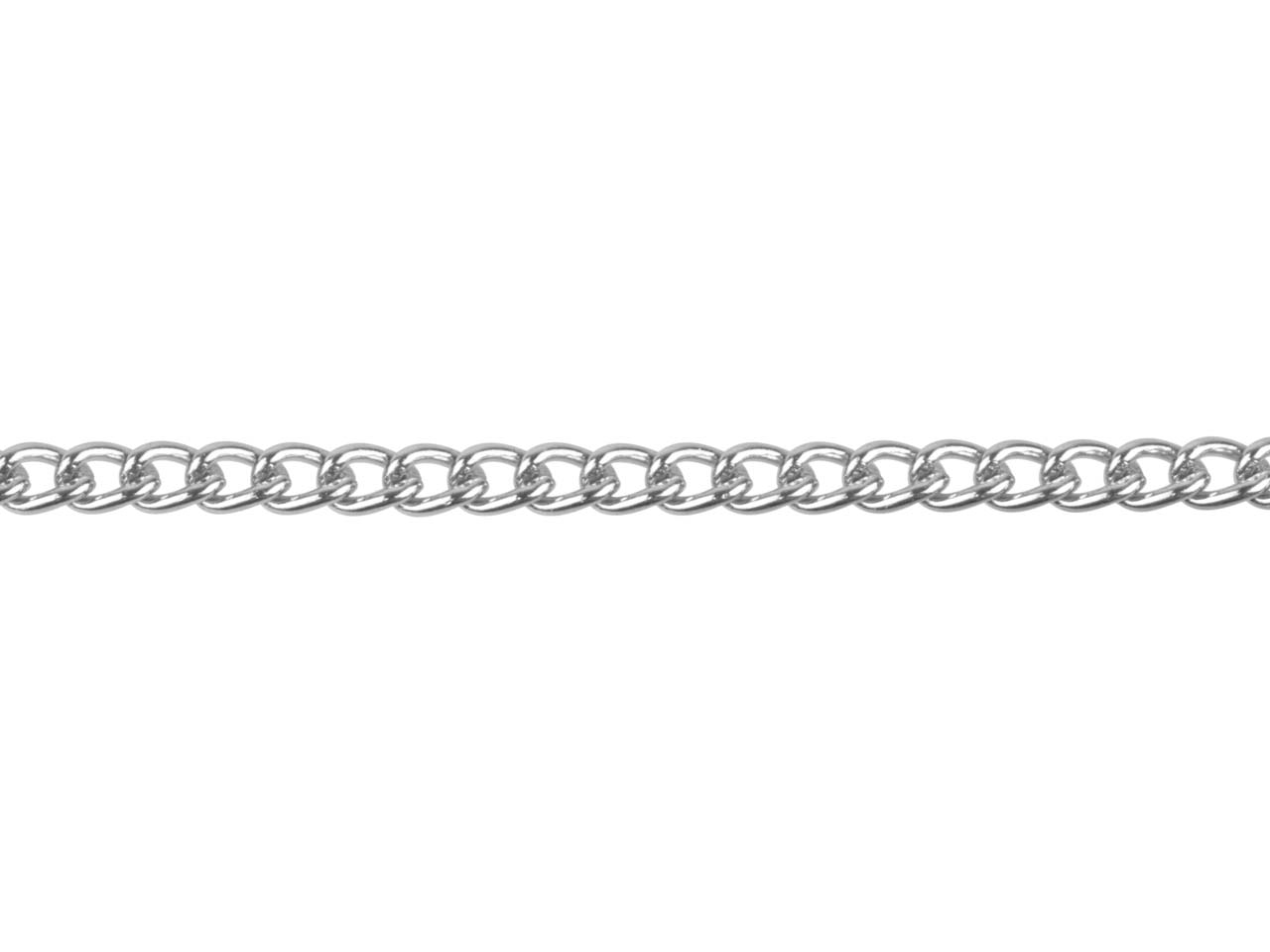 Silver Plated 2.8mm Loose Curb     Chain 1 Metre Length