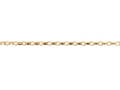 9ct Yellow Gold 1.4mm Diamond Cut  Loose Belcher Chain