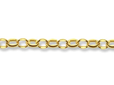 9ct Yellow Gold 1.6mm Loose Belcher Chain