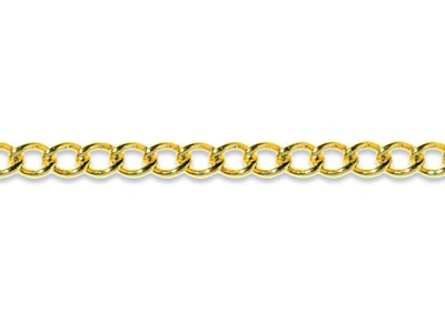 9ct Yellow Gold 2.5mm Loose Curb   Chain