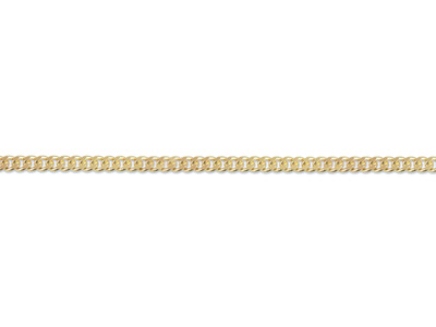 9ct Yellow Gold 2.1mm Diamond Cut  Loose Curb Chain