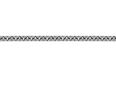 Platinum 1.3mm Round Loose Trace   Chain