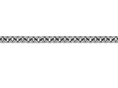 Platinum 1.0mm Round Loose Trace   Chain