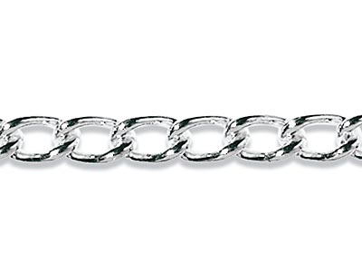 Sterling Silver 2.0mm Loose Curb   Chain