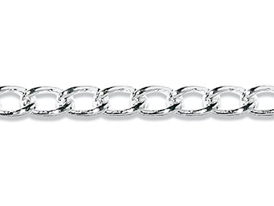 Sterling Silver 337 Plain Curb   Loose