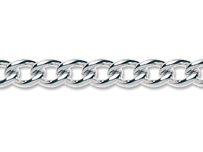 Sterling Silver 626 Plain Curb   Loose