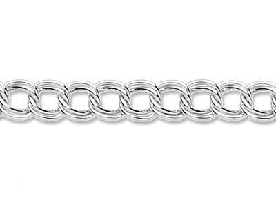 Sterling Silver 4.2mm Loose Double Curb Chain