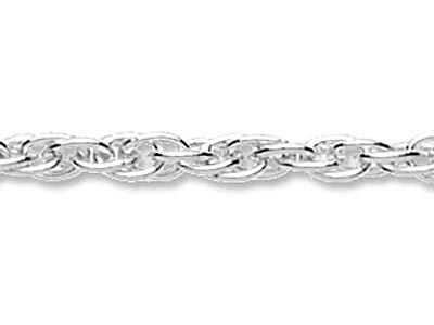 Sterling Silver 2.3mm Loose Rope   Chain