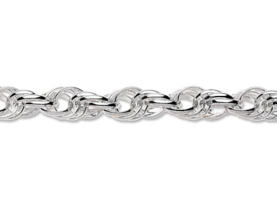 Sterling Silver 6.0mm Loose Triple Rope Chain