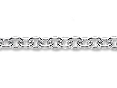 Sterling Silver 39 Cable Cufflink Chain Loose