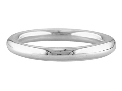 Silver Halo Wedding Ring 3.0mm K 4.4gms Heavy Weight Hallmarked