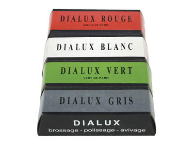Dialux Set Of 4 Metal Polishing     Bars, 100g X 4 For Gold, Silver And Other Metals