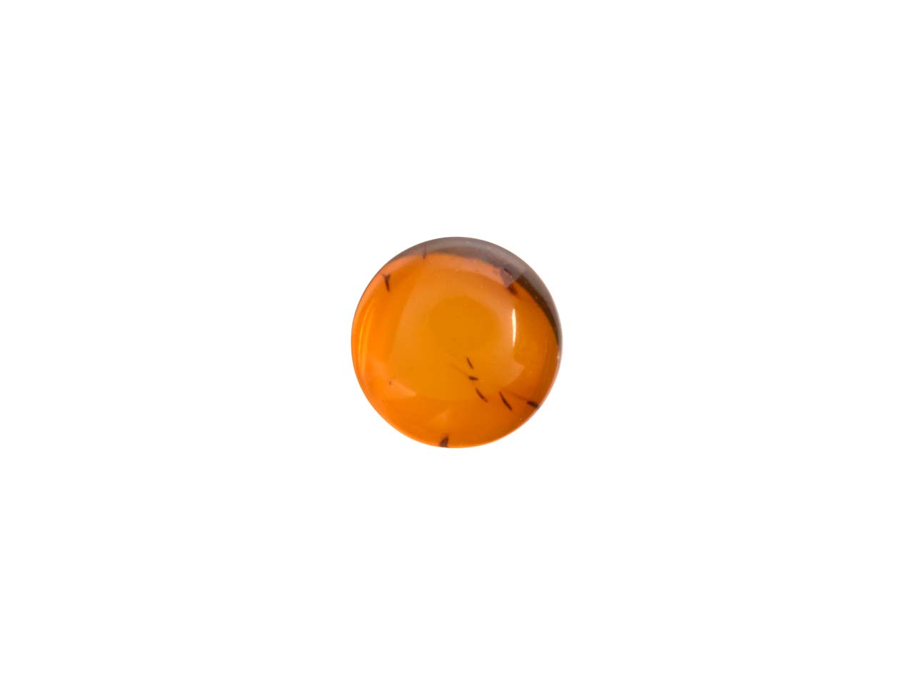 Natural Amber, Round Cabochon 4mm