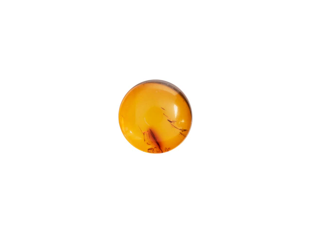Natural Amber, Round Cabochon 5mm