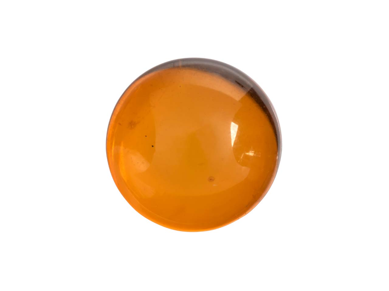 Natural Amber, Round Cabochon 10mm