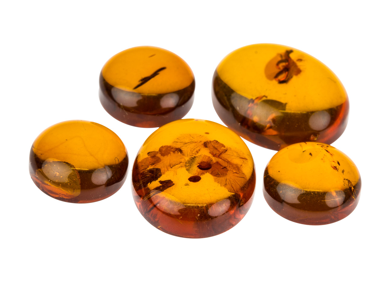 Amber Mixed Cabochon Set, Pack of 5