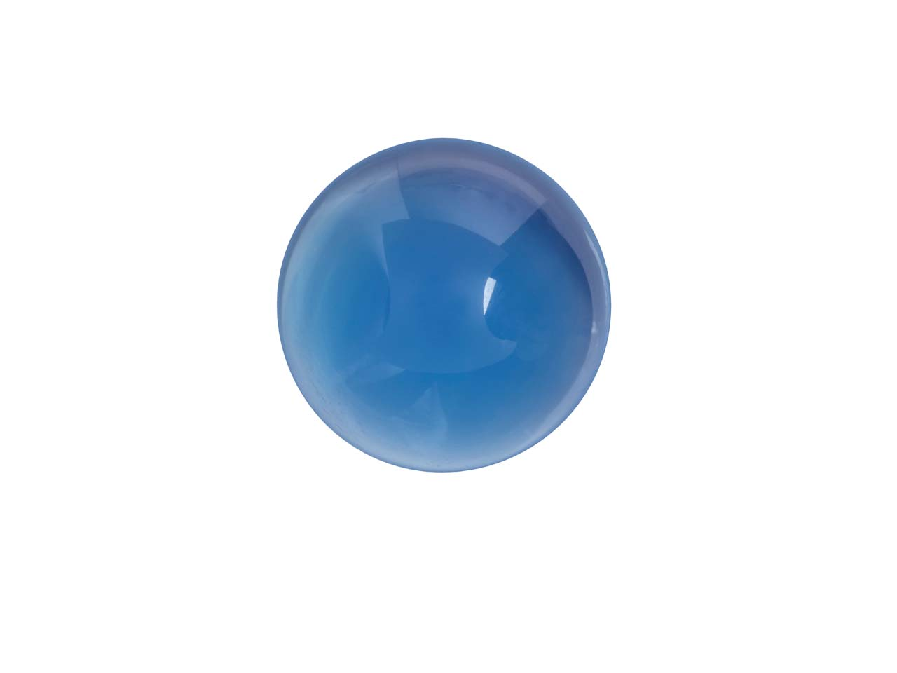 Blue Agate Round Cabochon 8mm