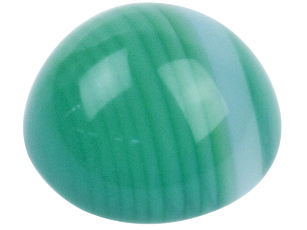 Green Stripe Agate Round Cabochon  6mm