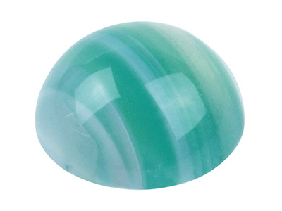 Green Stripe Agate Round Cabochon 8mm