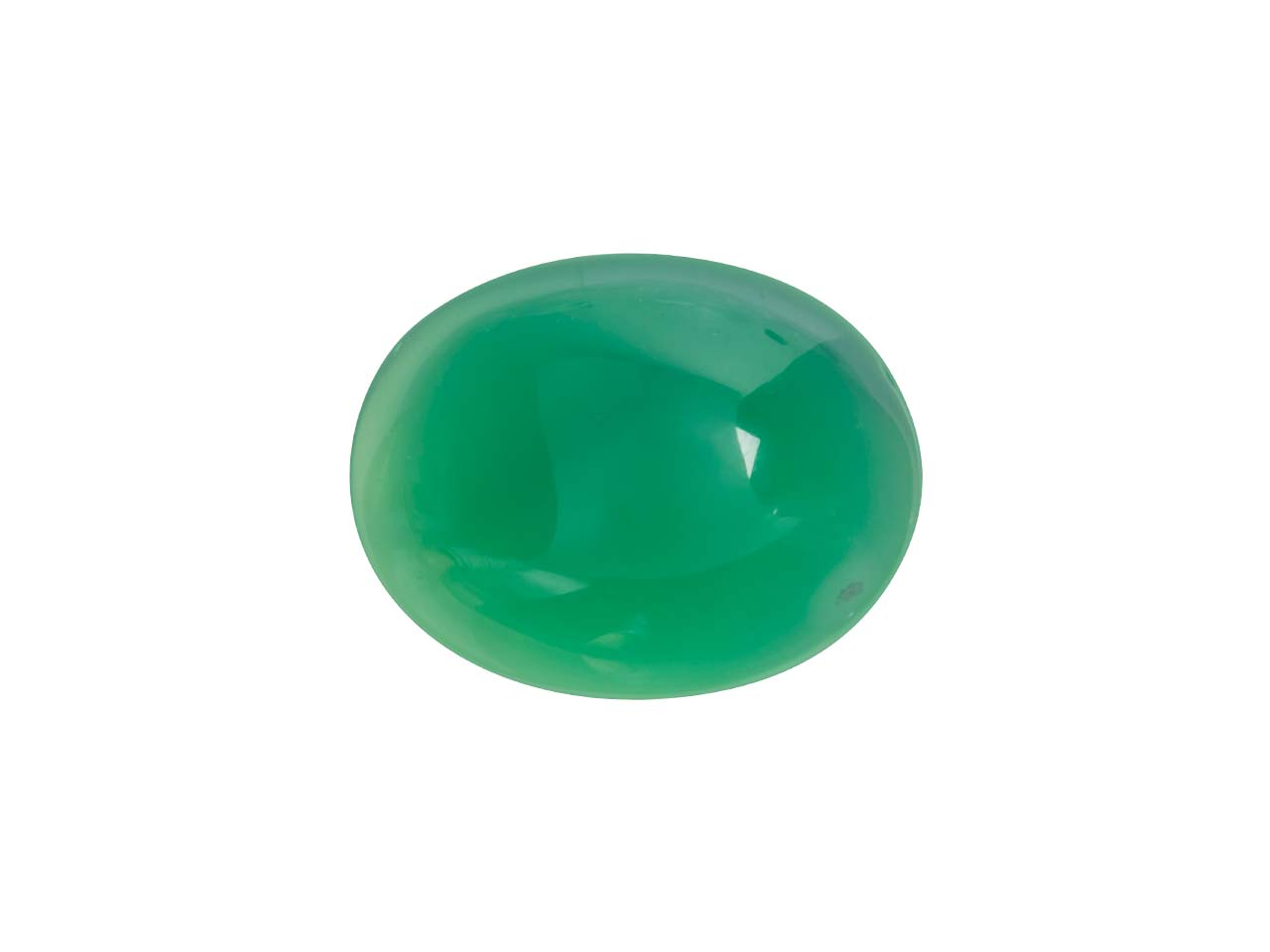 Green Agate, Oval Cabochon 10x8mm