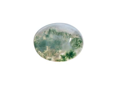 Moss Agate, Oval Cabochon 10x8mm