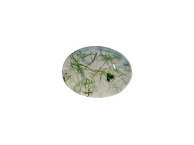 Moss Agate, Oval Cabochon 8x6mm