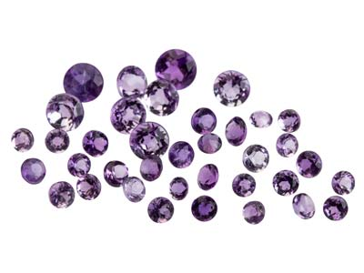 Amethyst, Round, 1.5 To 3.5mm Mixed Sizes, Pack of 30