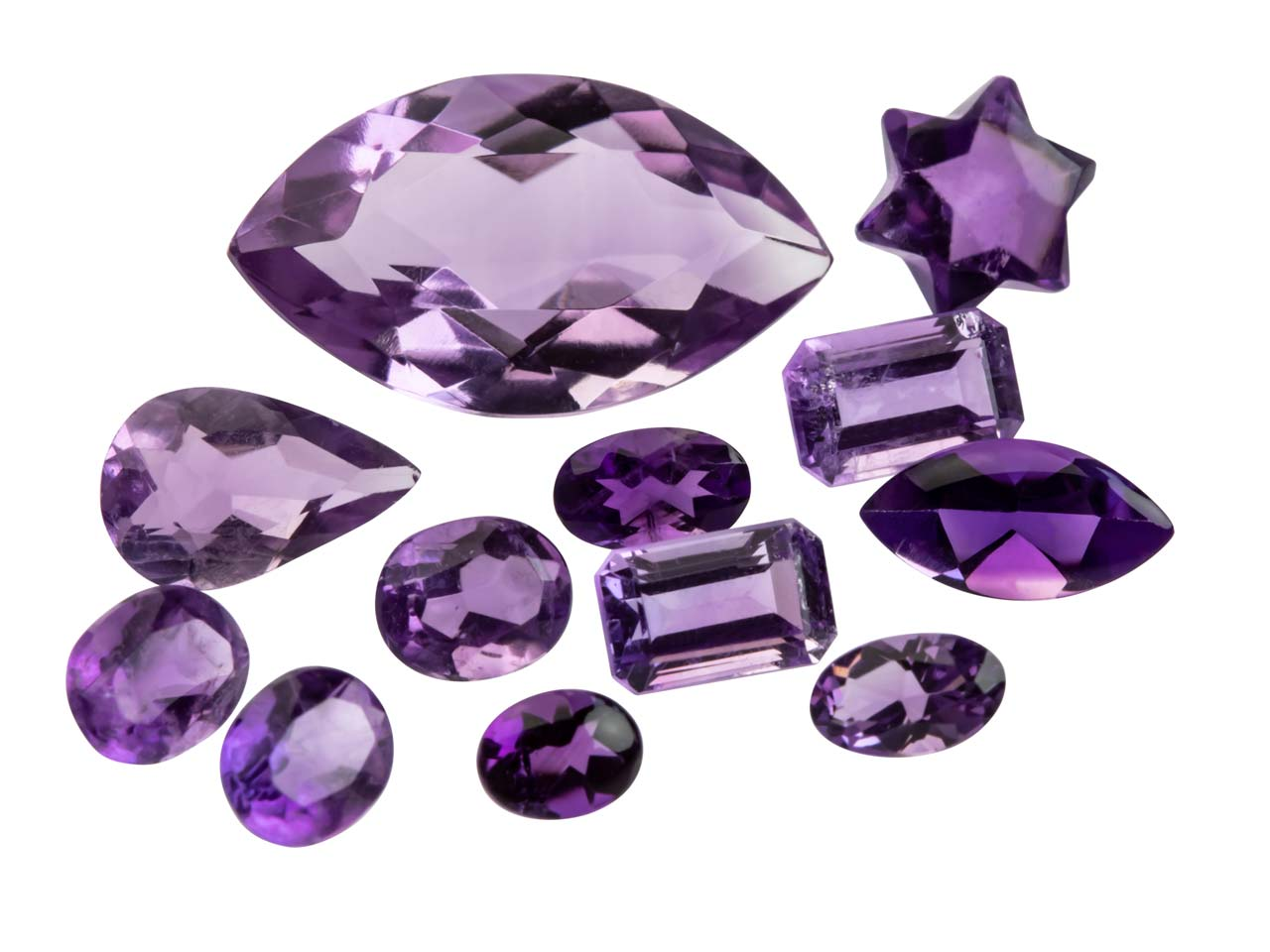 Amethyst, Mixed Shapes, Pack of 12,