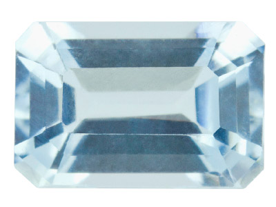 Aquamarine,-Octagon,-6x4mm