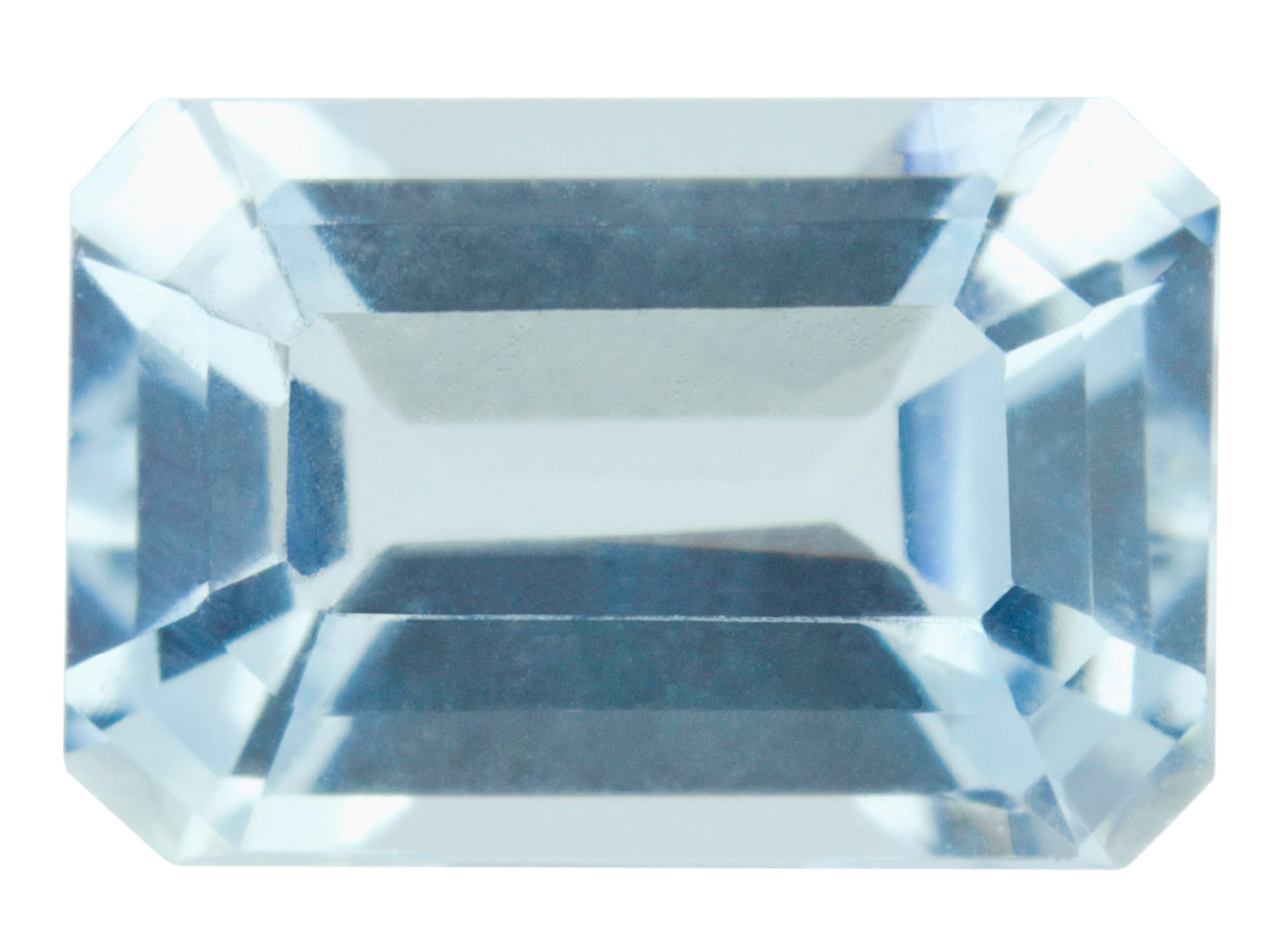Aquamarine, Octagon, 6x4mm