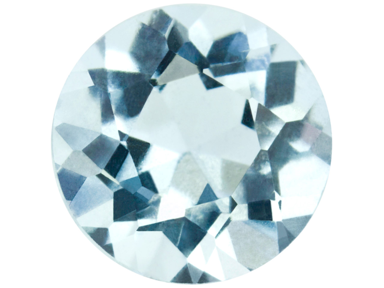 Aquamarine, Round, 4mm