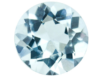 Aquamarine, Round, 4.5mm