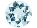 Aquamarine,-Round,-4.5mm