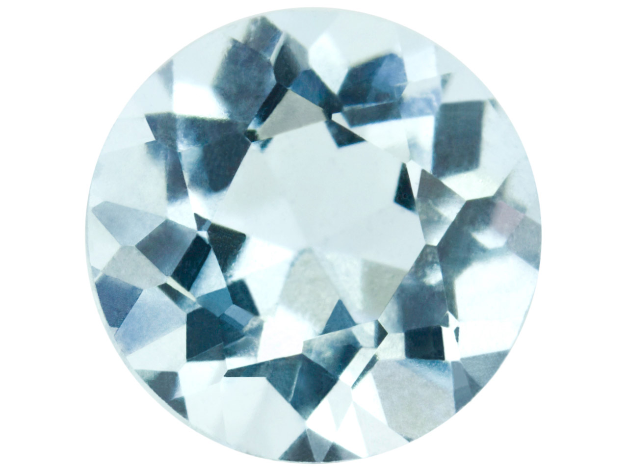 Aquamarine, Round, 6mm