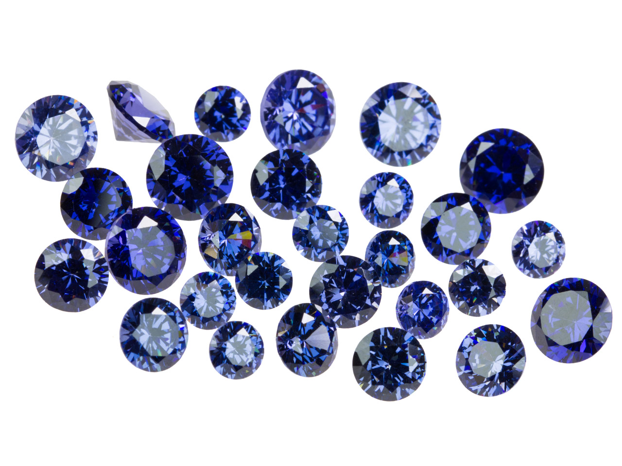 Tanzanite Coloured Cz, Round,      4,5,6mm, Pack of 28