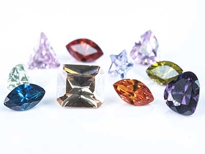 Rainbow Cz Mixed Shapes Pk 17