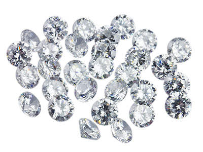 White Cubic Zirconia, Round 1.5mm, Pack of 50, Pmc Safe, Sizes May    Vary Slightly