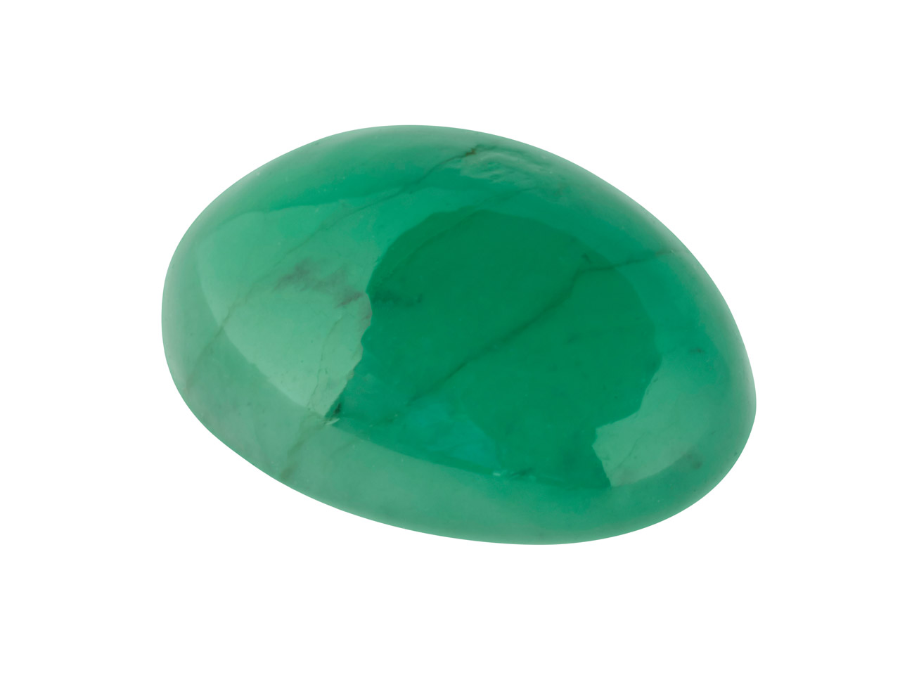 Emerald, Oval Cabochon, 7x5mm