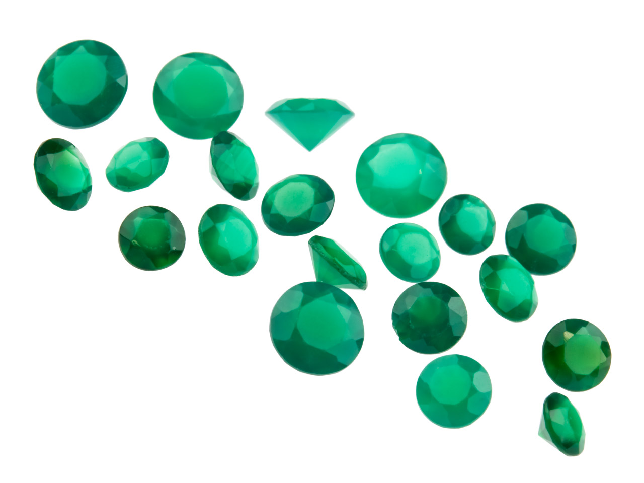 Green Agate, Round, 3mm+ Mixed     Sizes, Pack of 20