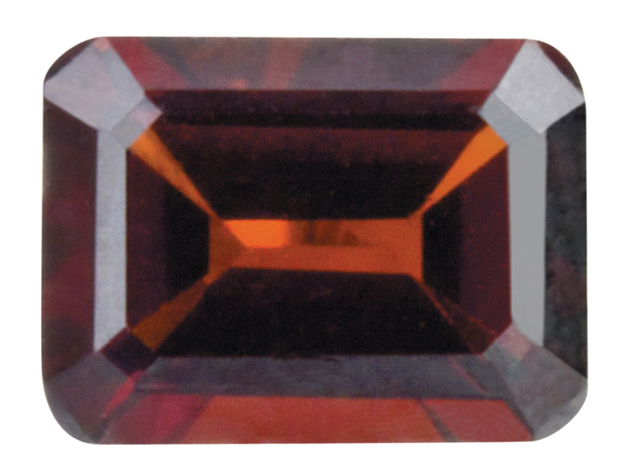 Garnet, Octagon, 6x4mm