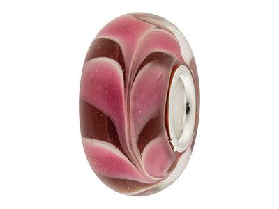 Glass-Charm-Bead,-Dark-Red-With----Pi...