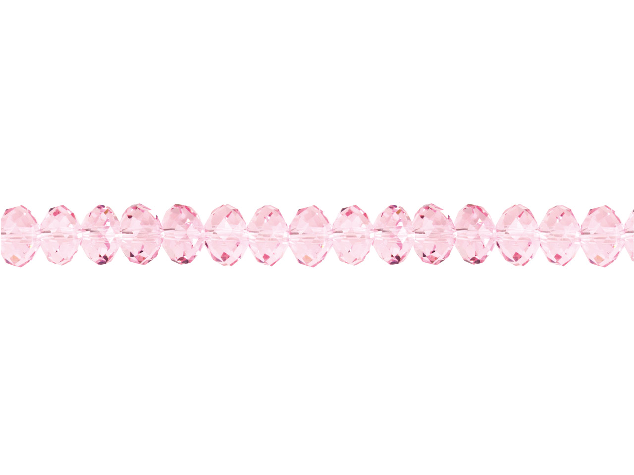 Crystal Faceted Rondelle Pink 6x8mm Beads, 16