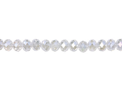 Crystal Faceted Rondelle Clear Ab  6x8mm Beads, 1640cm Strand