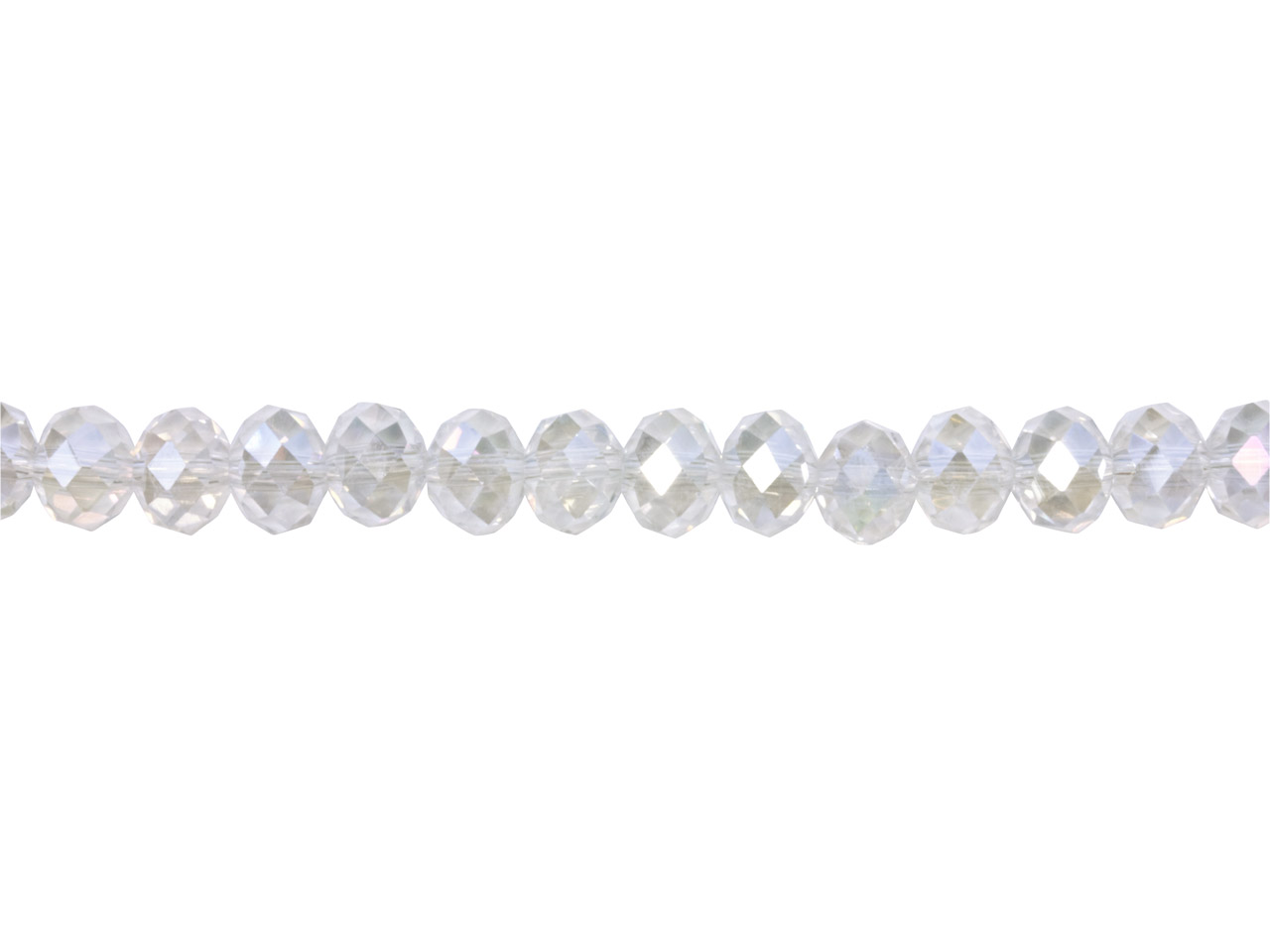 Crystal Faceted Rondelle Clear Ab  6x8mm Beads, 16