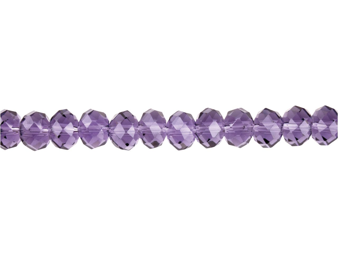 Crystal Faceted Rondelle Purple    8x10mm Beads, 16