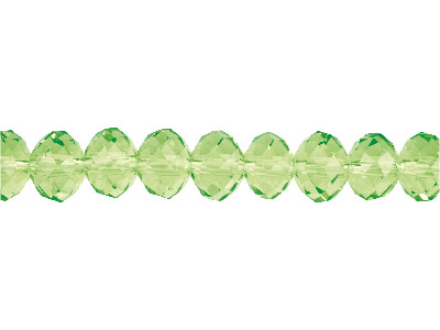 Crystal Faceted Rondelle Peridot   10x14mm Beads 1640cm Strand