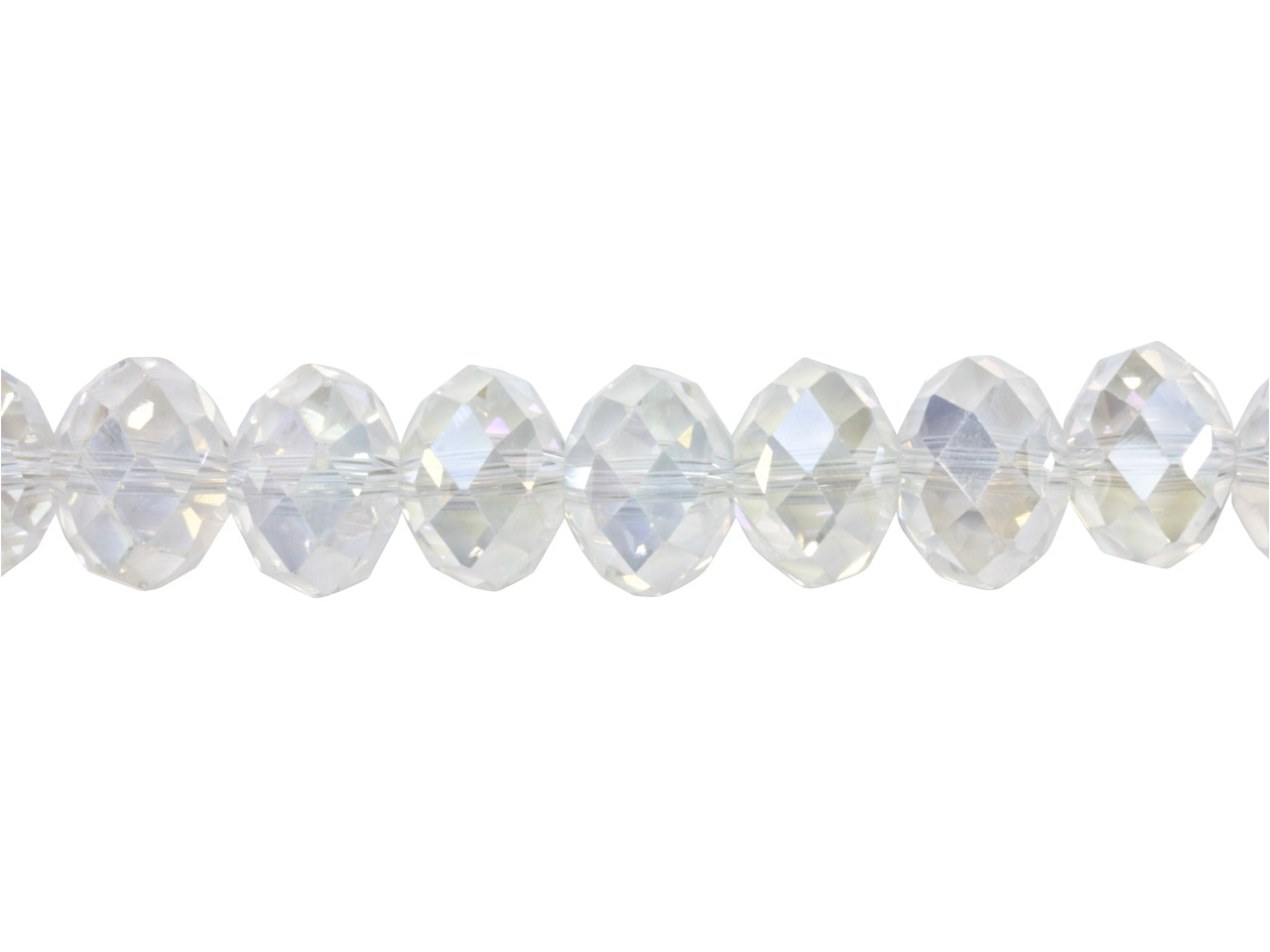 Crystal Faceted Rondelle Clear Ab  10x14mm Beads, 16