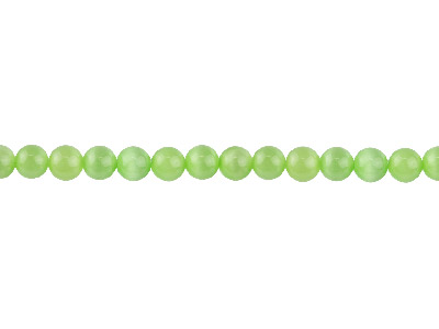 Cats Eye Peridot Round Beads 4mm 1640cm Strand